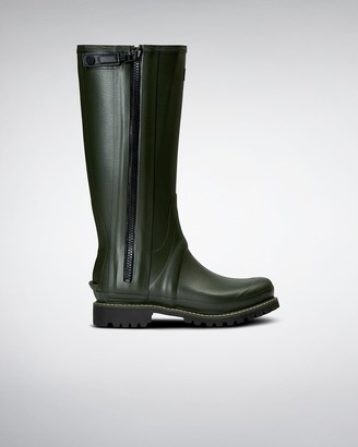Hunter Men's Balmoral Full Zip Leather Lined Tall Wellington Boots