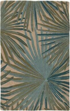 Jaipur Living Coastal Seaside Floral Hand-Tufted Wool Green Area Rug Living Rug Size: Rectangle 5' x 8'