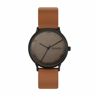 Skagen Men's Nillson Quartz Analog Stainless Steel and Leather Watch