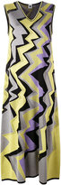 M Missoni metallic zigzag midi dress - women - Cotton/Polyamide/Polyester/Metallic Fibre - 40