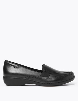 Marks and Spencer Leather Wedge Heel Loafers