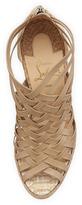 Christian Louboutin Tramontagne Red Sole Wedge Sandal, Beige