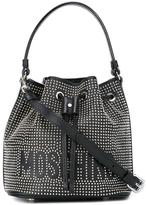 Moschino studded bucket tote