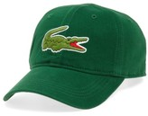 Lacoste Men's 'Big Croc' Logo Embroidered Cap - Green