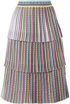 Mary Katrantzou Baccarat tiered skirt - women - Silk/Polyester - 8