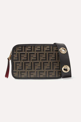 Fendi Embossed Leather Camera Bag - Brown