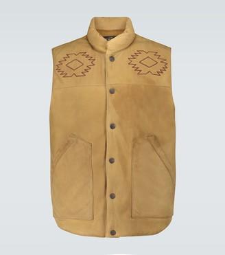 Ralph Lauren RRL Hazelwood leather vest