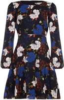 Yumi Wild Floral Print Long Sleeve Dress
