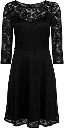 Wallis Black Lace Fit and Flare Dress