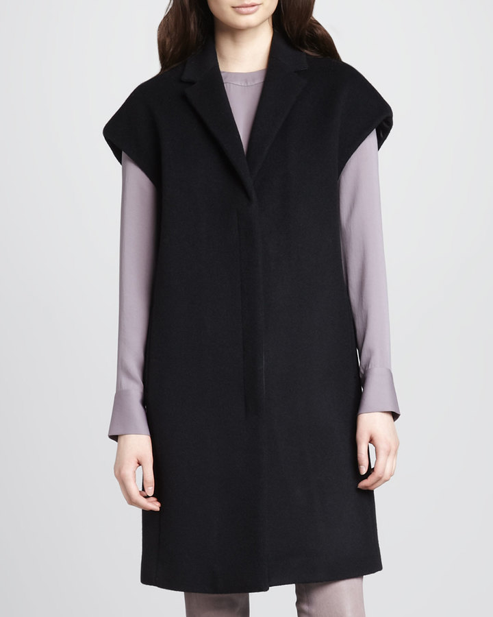 J Brand Ready to Wear Paola Cap-Sleeve Wool Coat