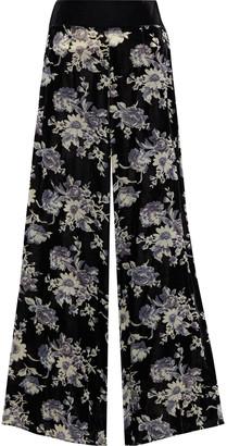 Myla Hyde Park Floral-print Devore-velvet Wide-leg Pants