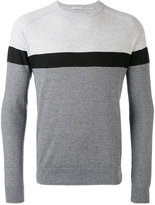 Paolo Pecora striped panel sweatshirt - men - Cotton - M