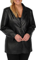 JCPenney Excelled Leather Excelled Nappa Two-Button Blazer - Plus