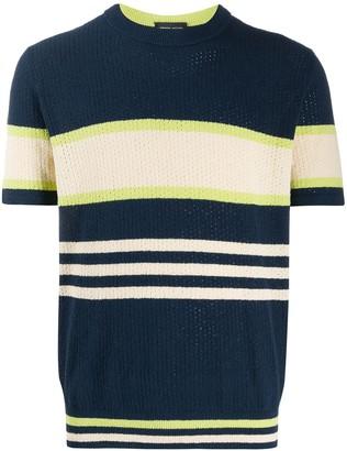 Roberto Collina colour-block striped T-shirt
