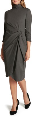 Tahari Mock Neck Sheath Dress