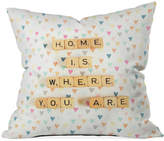 "Deny Designs Happee Monkee Home Is Where You Are 16"" Square Decorative Pillow"