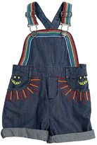 Stella McCartney Embroidered Cotton Chambray Overalls