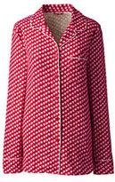 Lands' End Women's Flannel Sleep Top-Rich Pine Plaid
