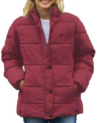 Champion Ladies Country Estate Zip & Stud Front Closure Padded Jacket with Hood 1615 - Rose - 12