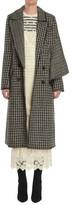 Burberry Women's Houndstooth Wool Coat