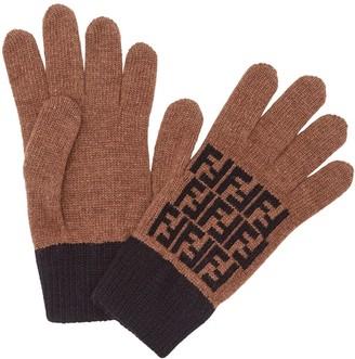 Fendi FF motif gloves
