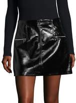 Blank Nyc Patent Mini Skirt