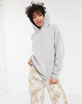 Monki oversized hoodie in grey marl