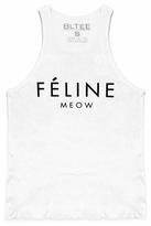 Brian Lichtenberg Feline Tank Top in White/Black