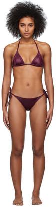 Solid and Striped Purple The Iris Bikini