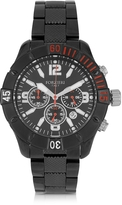 Forzieri Kimi Black and Red Stainless Steel Men's Watch