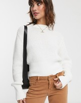 French Connection waffle knit sweater