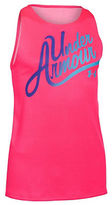 Under Armour Girls 7-16 Text Graphic Tank