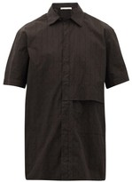 Alyx Logo-embroidered Panelled Cotton Shirt - Mens - Black