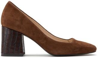 Anne Weyburn Leather Block Heels