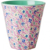 Rice Flowers goblet - dusky pink