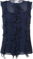 Oscar de la Renta ruffle sleeveless blouse - women - Silk - 2