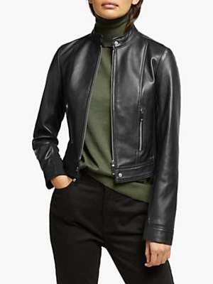 Michael Kors MICHAEL Ponti Leather Jacket, Black