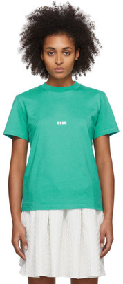 MSGM Green Micro Logo T-Shirt