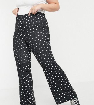 Simply Be flared trouser in multi