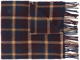 A.P.C. checked fringed scarf - men - Virgin Wool - One Size