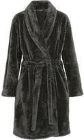 Calvin Klein Underwear Harmony Velour Robe - Black