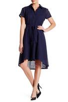 Donna Ricco Short Sleeve Collared Dress