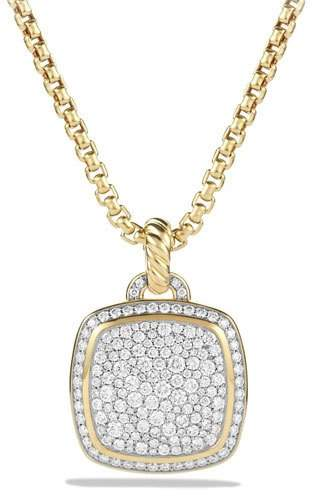 David Yurman 18k Albion® Diamond Pavé Pendant