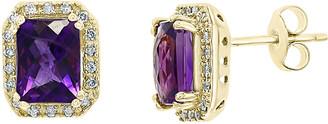 Effy 14K 3.27 Ct. Tw. Diamond & Amethyst Earrings