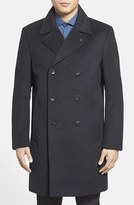 Vince Camuto Men's Water Resistant Double Breasted Topcoat