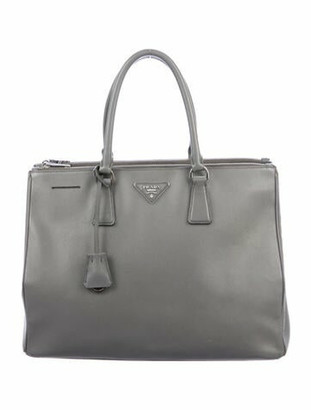 Prada Saffiano Lux Large Galleria Double Zip Tote Grey