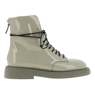Marsèll Gommello Boots In Shiny Leather With Rubber Sole And Zip