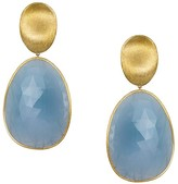 Marco Bicego 18K Yellow Gold Lunaria Drop Earrings with Aquamarine