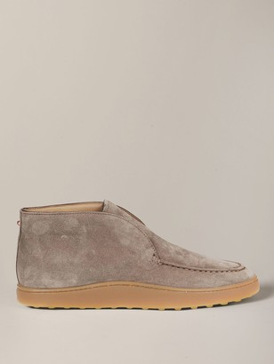 Tod's Sneakers In Suede With Ankle Boots