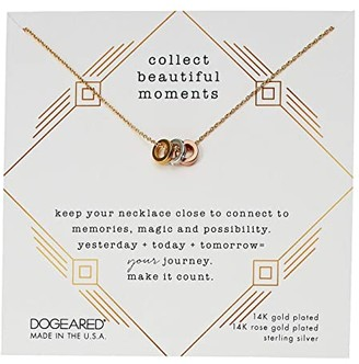 Dogeared Collect Beautiful Moments, Trio Of Rondelle Beads Necklace